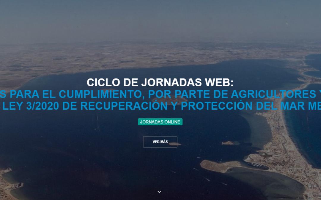 Participamos en el ciclo de jornadas web sobre la Ley 3/2020 de recuperación y protección del Mar Menor